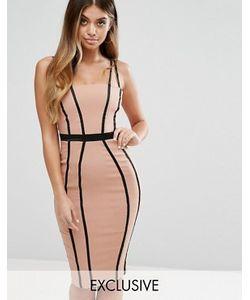Vesper | Платье-Футляр С Отделкой Под Корсет И Атласными Лентами