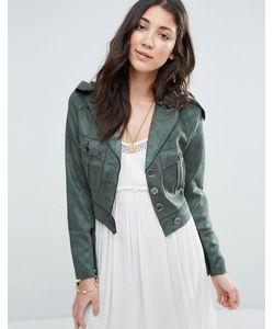Raga | Зеленая Куртка Из Искусственной Замши No Rules