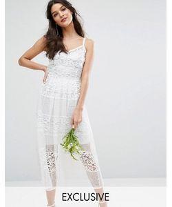 Body Frock | Приталенное Кружевное Платье С Серебристой Подкладкой Bodyfrock Bridal