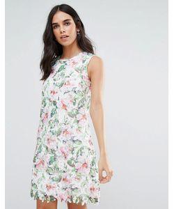 Uttam Boutique | Кружевное Платье А-Силуэта С Цветами