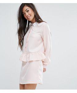 Fashion Union Petite   Платье С Длинными Рукавами И Оборкой