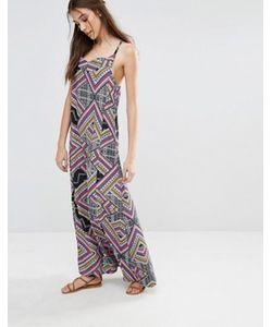 Diya | Платье Макси С Геометрическим Принтом
