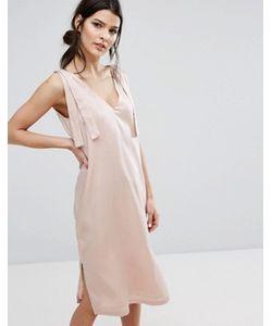 Neon Rose   Атласное Платье-Комбинация