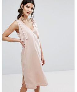 Neon Rose | Атласное Платье-Комбинация