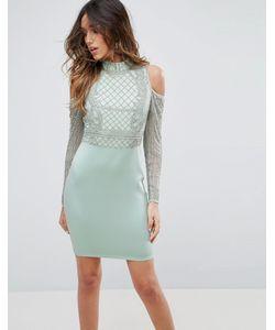 Asos | Платье Мини С Золотистой Отделкой На Плечах