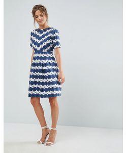 Uttam Boutique | Короткое Приталенное Платье С Цветочным Принтом