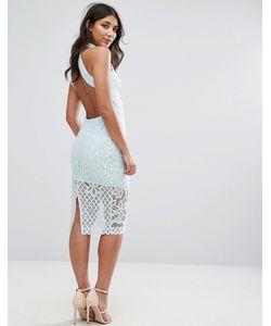 Club L | Кружевное Платье Миди С Открытой Спиной