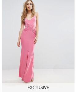 Club L | Платье Макси На Бретельках С Узлом Спереди