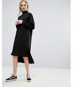ADPT | Трикотажное Платье Миди С Высоким Воротником