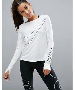 Nike | Дышащий Топ С Логотипом-Галочкой Running