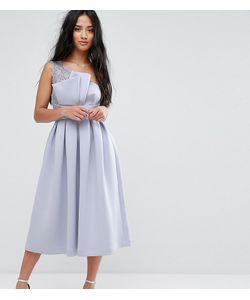 ASOS PETITE | Платье Миди На Одно Плечо Для Выпускного С Кружевом