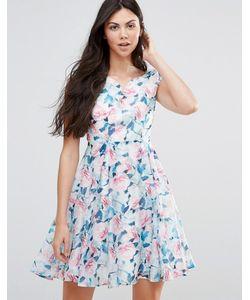 Yumi | Платье Из Органзы С Принтом Роз