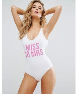 MISSGUIDED | Слитный Купальник Miss To Mrs