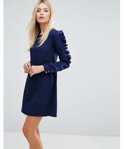 Closet London | Платье С Длинными Рукавами И Оборками Closet