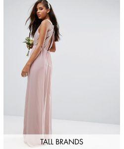 TFNC Tall | Платье Макси С Плиссировкой И Открытой Спиной