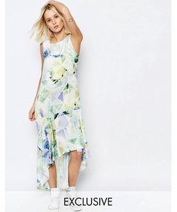 Every Cloud   Асимметричное Платье С Цветочным Принтом