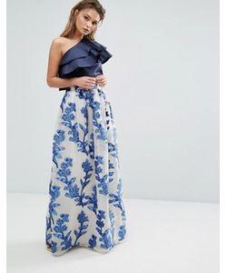 True Violet | Burnout Maxi Skirt