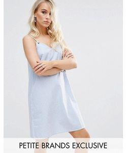 Noisy May Petite | Платье В Полоску На Тонких Бретельках
