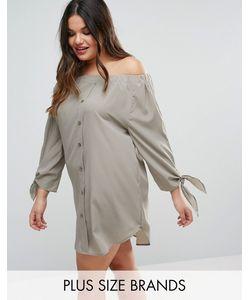 AX Paris | Платье С Открытыми Плечами И Завязками На Рукавах Plus