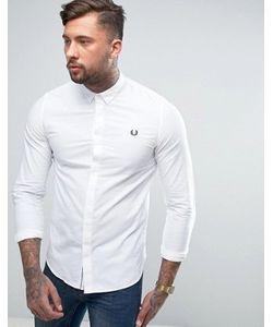 Fred Perry | Приталенная Рубашка Со Скрытой Планкой