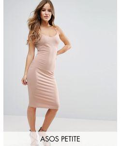 ASOS PETITE | Облегающее Платье Миди На Бретельках
