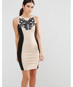 Laced In Love | Облегающее Платье Со Вставками