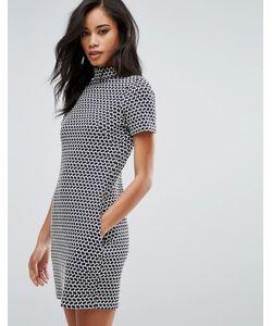 Hedonia | Цельнокройное Платье С Высоким Воротом