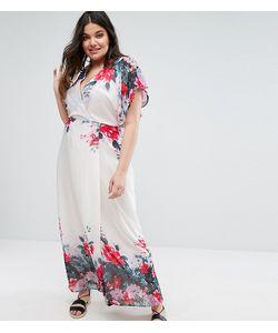 Boohoo Plus | Платье Макси С Рукавами-Кимоно И Цветочным Принтом