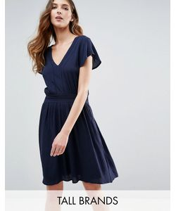 Vero Moda Tall | Приталенное Платье С Короткими Рукавами