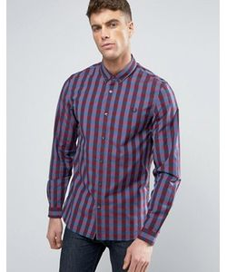 Fred Perry | Узкая Рубашка В Клеточку На Пуговицах