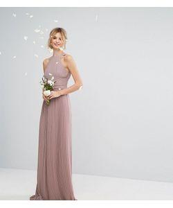 TFNC Tall   Плиссированное Платье Макси С Высоким Воротником Wedding