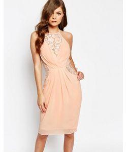 TFNC | Платье Миди С Запахом Спереди И Кружевной Отделкой