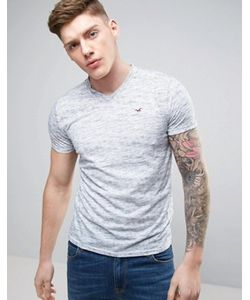 Hollister | Slim Fit V Neck T-Shirt Seagull Embroid Logo In