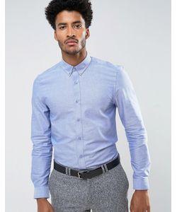 Ben Sherman | Однотонная Облегающая Оксфордская Рубашка