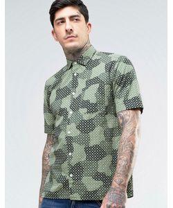 YMC | Рубашка С Короткими Рукавами И Принтом