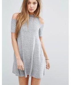 Hollister   Платье С Вырезами На Плечах