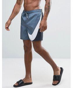 Nike | Черные Шорты Для Плавания С Большим Логотипом Breach