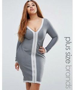 Missguided Plus | Бандажное Облегающее Платье