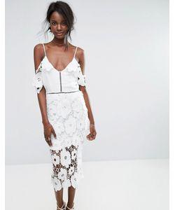 MISSGUIDED | Кружевное Платье Миди