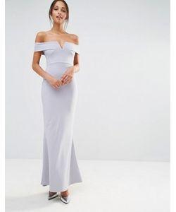 MISSGUIDED | Платье Макси Из Крепа С Широкой Горловиной И Вырезом