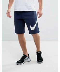 Nike | Трикотажные Шорты С Большим Логотипом 843520-451