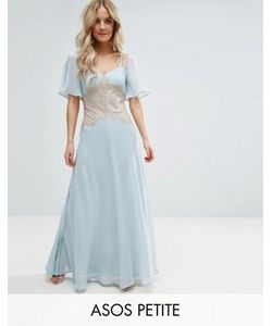 ASOS PETITE | Платье Макси С Контрастными Кружевными Вставками Wedding