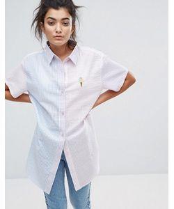 Lazy Oaf | Рубашка В Тонкую Полоску Sorbet