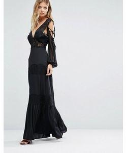 MAJORELLE | Платье С Кружевной Отделкой Ronnie