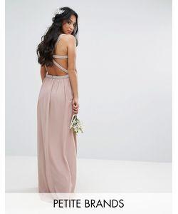TFNC Petite | Платье Макси С Отделкой И Декорированными Лямками На Спине