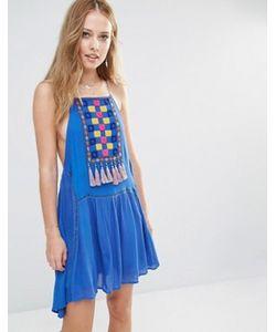 Piper | Платье С Нагрудной Вставкой И Кисточками Varacruz