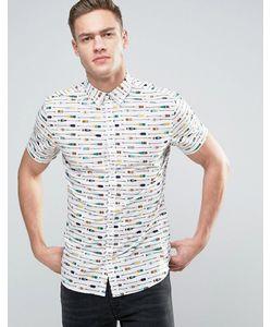 Solid | Рубашка С Короткими Рукавами И Принтом