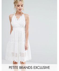 True Decadence Petite | Пышное Кружевное Платье Для Выпускного С Запахом