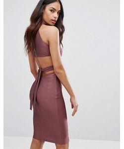 NaaNaa | Платье С Высокой Горловиной И Вырезами