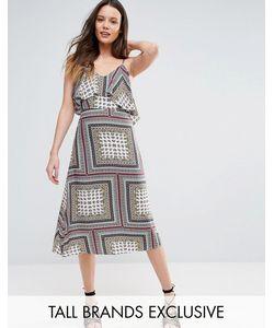 Glamorous Tall   Свободное Платье Миди С Открытыми Плечами
